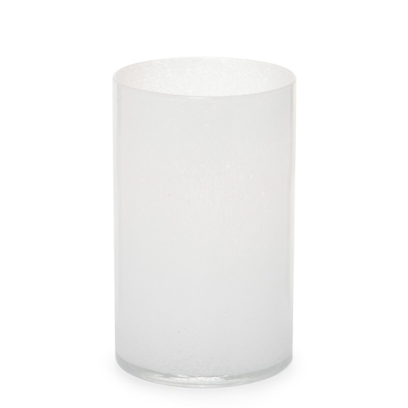 White glass vase zer4u