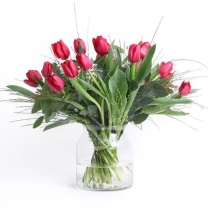 Red Tulips flowers to israel ZER4U